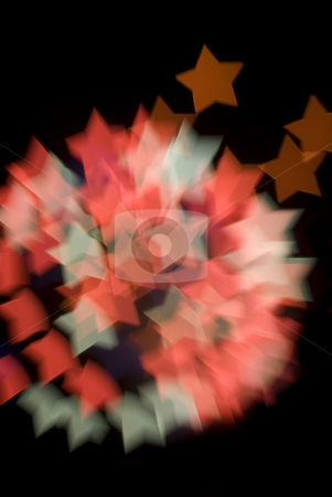 Bokeh Starburst stock photo, A pattern of bokeh star shapes created at a fireworks display by Stephen Gibson