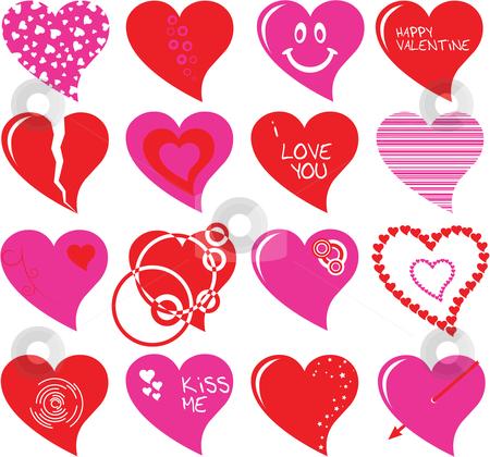 Heart set stock vector clipart, Heart set by Vadim Pats