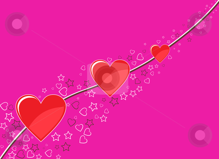 Valentine's Day Heart Background stock vector clipart, Valentine's Day Heart Background by Vadim Pats