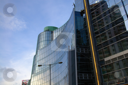 Business construction stock photo, The top of office building over sky by Tito Wong