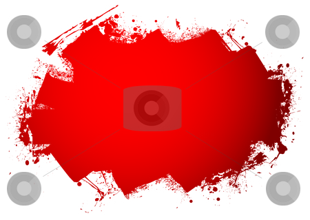 Blood roller stock vector clipart, Blood red roller marks with room to add your text by Michael Travers