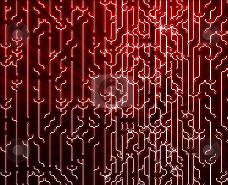 Abstract circuitry stock photo, Abstract wallpaper illustration of electronic circuitry patterns by Kheng Guan Toh