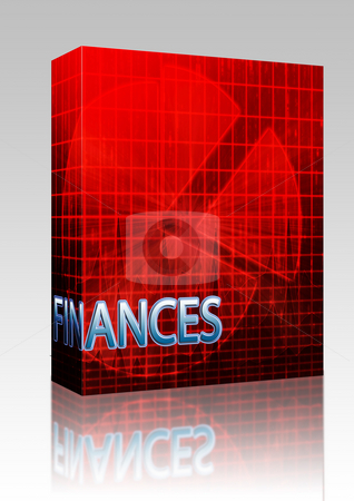 Budgeting finance illustration box package stock photo, Software package box Illustration of financial budgeting finance and business pie chart by Kheng Guan Toh