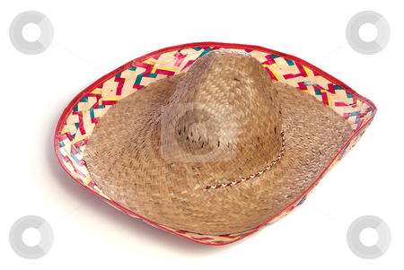 Sombrero stock photo, A classic sombrero hat isolated on a white background by Richard Nelson