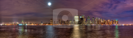 New York City skyline stock photo, High Dynamic Range New York City skyline as seen from New Jersey by Anibal Trejo