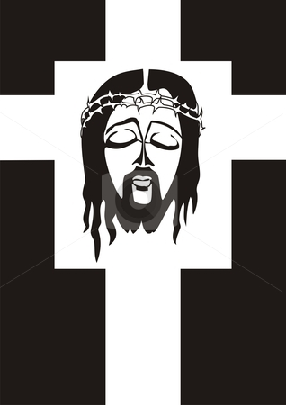 Jesus Crucifixion stock vector clipart, Symbol of Jesus Christ Crucifixion by xiphor