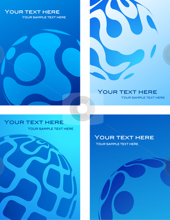 Business card templates with blue globe background stock vector business card templates with blue globe background reheart Images