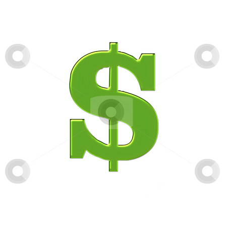 Large green money sign stock photo, 3d design in green showing big dollar sign by CHERYL LAFOND