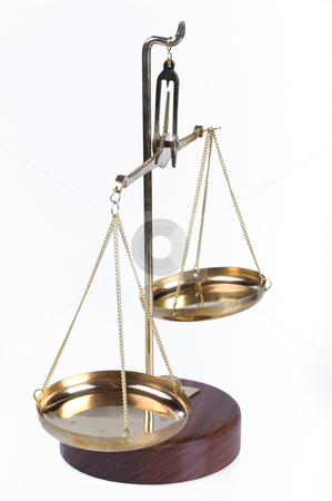 Balance scales  stock photo, Great image of gold justice balance scales by Phil Morley