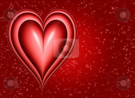 Big heart stock photo, A big red love heart on red background by Phil Morley