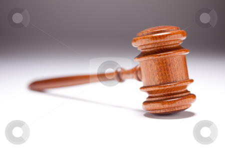 Gavel on Gradated Background stock photo, Gavel on Gradated Background with Selective Focus. by Andy Dean