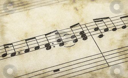 Music notes stock photo, Great image of music notes composition on paper by Phil Morley