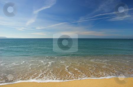 Beautiful beach stock photo, Beach landscape in a beautiful day by ikostudio