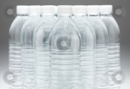 Water Bottles Abstract stock photo, Water Bottles Abstract Image on a Gradated Background. by Andy Dean