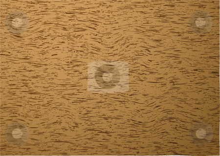 Natural wood grain background stock vector clipart, Brown wood background with grain effect ideal desktop by Michael Travers