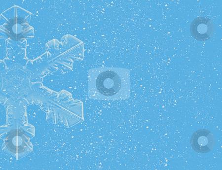 Lite Blue Snowflakes on blue background stock photo, Lite Blue Snowflakes on blue background by Melissa King