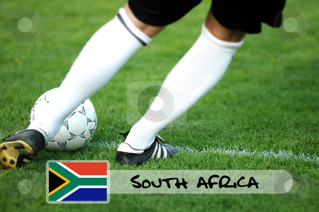 Soccer team of South Africa stock photo,  by Tomas Marek