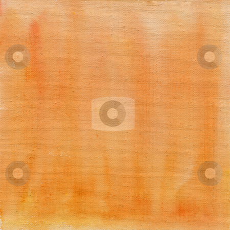 Peach color  watercolor abstract with canvas texture stock photo, Peach color watercolor abstract on white cotton artist canvas, self made by photographer by Marek Uliasz