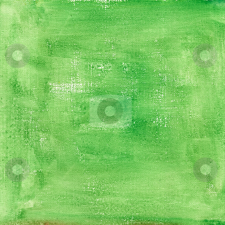 Green  watercolor abstract with canvas texture stock photo, Green watercolor abstract on white cotton artist canvas, self made by photographer by Marek Uliasz