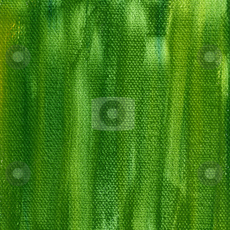 Green painted background with canvas texture stock photo, Grunge green watercolor abstract on artist canvas, self made by photographer by Marek Uliasz