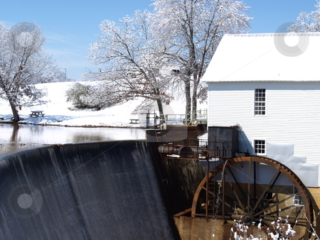 Mill in winter stock photo, A mill during the winter of the year by Tim Markley