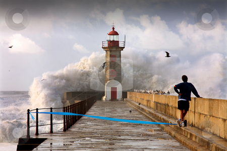 Lighthouse, Foz do Douro, Portugal stock photo, Lighthouse in Foz of Douro, Portugal by Jorge Casais