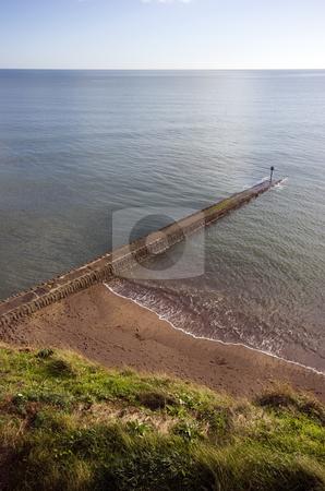 Dawlish, Devon stock photo, A pier on the beach in Dawlish, Devon by Martin Garnham