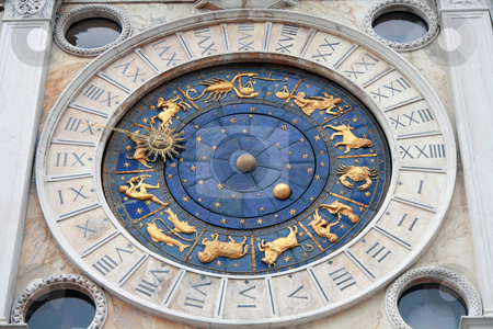 Italy, Venice: Clock Tower stock photo, St.Mark's Clocktower, situated on St.Mark's Square in Venice, Italy by Daniele Cucchi