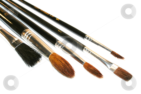 Brushes stock photo, Several brushes by Marén Wischnewski