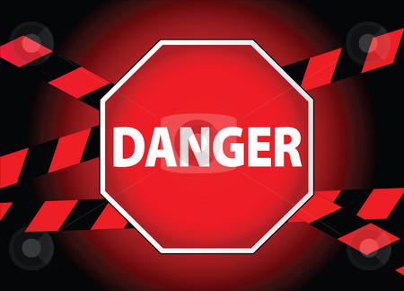 Danger sign stock photo,  by Tomas Marek