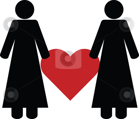 Lesbian love stock vector clipart,  by Tomas Marek