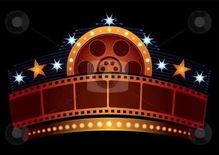 cinema neon stock vector