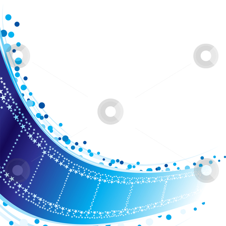 Stars at film strip stock vector clipart, Cinema film strip made from blue stars by Oxygen64
