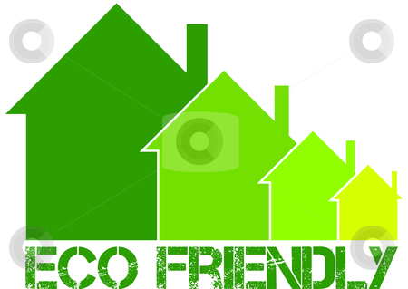 Eco frindly house stock vector clipart,  by Tomas Marek