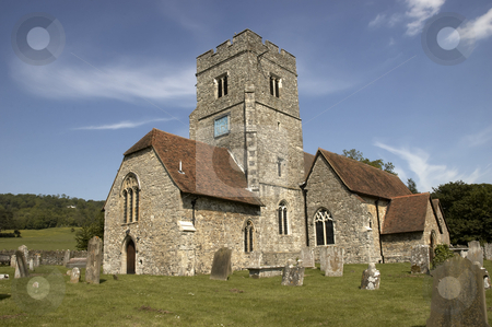 Rural church stock photo, A rural church with blue sky in Kent,England by Mark Bond