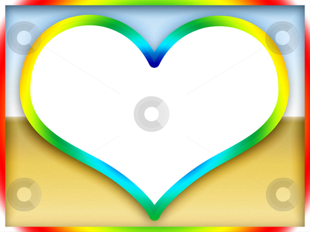 Colorful Love Frame stock photo, Colorful Romantic Bright Love Flame by Skovoroda