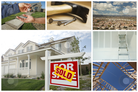 Construction and Real Estate Collage stock photo, Construction and Real Estate Themed Variety Collage. by Andy Dean