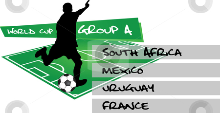 Group A - soccer world championship stock vector clipart,  by Tomas Marek