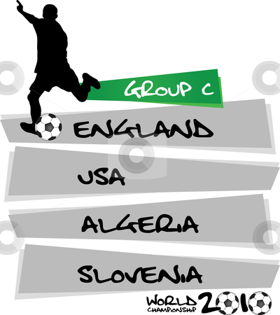 Group C - soccer world championship stock vector clipart,  by Tomas Marek