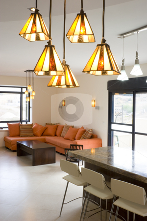 New Home stock photo, Modern furniture set in living room by Dmitry Pistrov