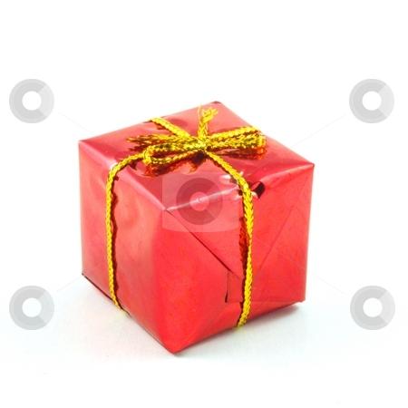 Xmas or christmas present box stock photo, Xmas or christmas present box isolated on white background by Gunnar Pippel
