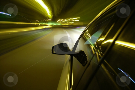 Night drive with car in motion  stock photo, Night drive with car in motion through the city shows the speed by Gunnar Pippel