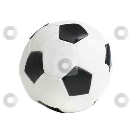 Football / Soccer Ball stock photo, Football / soccer ball on a white background. by Christopher Nuzzaco
