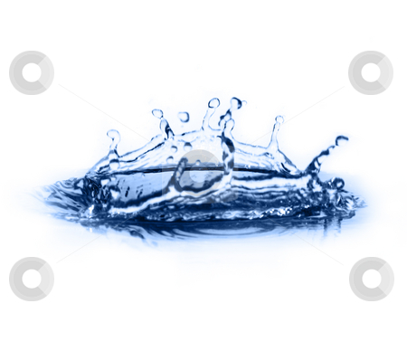 Clear Blue Water stock photo, Crisp, clear, blue water photographed against a white background. by Christopher Nuzzaco