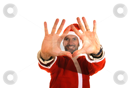 Christmas background: Santa Claus, gifts stock photo, Christmas background Santa Claus, gifts by Jorge Casais