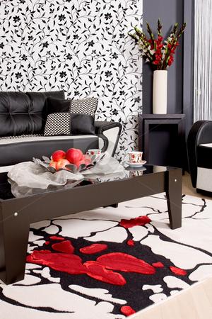 Abstract luxury sofa stock photo, Abstract shot of a modern living room by Nikola Spasenoski