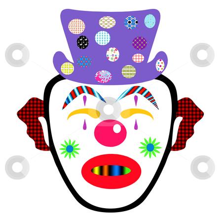 Clown stock photo, Funny faced clown by CHERYL LAFOND