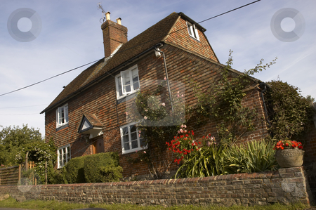 Old house stock photo, An old house in a village setting by Mark Bond