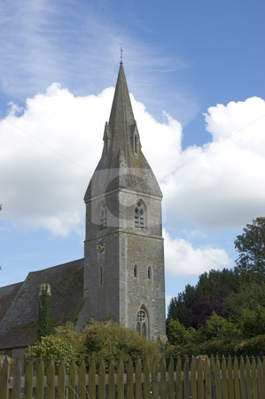 Rural church stock photo, A church in a rural setting in England by Mark Bond