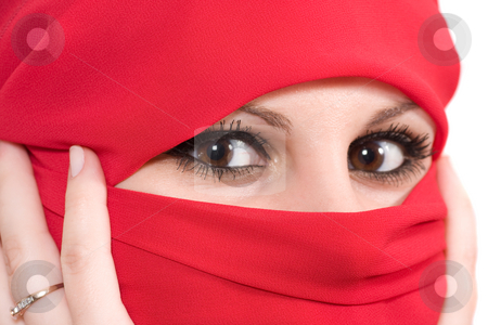 Woman with veil stock photo,  by Bo Valentino
